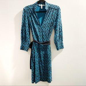 Diane von Furstenberg Silk Wrap Dress Size 10 RARE